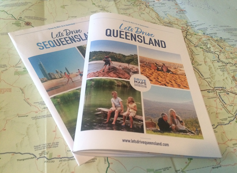 Let's Drive Queensland 2021 and Let's Drive SEQueensland 2021 self-drive guide books