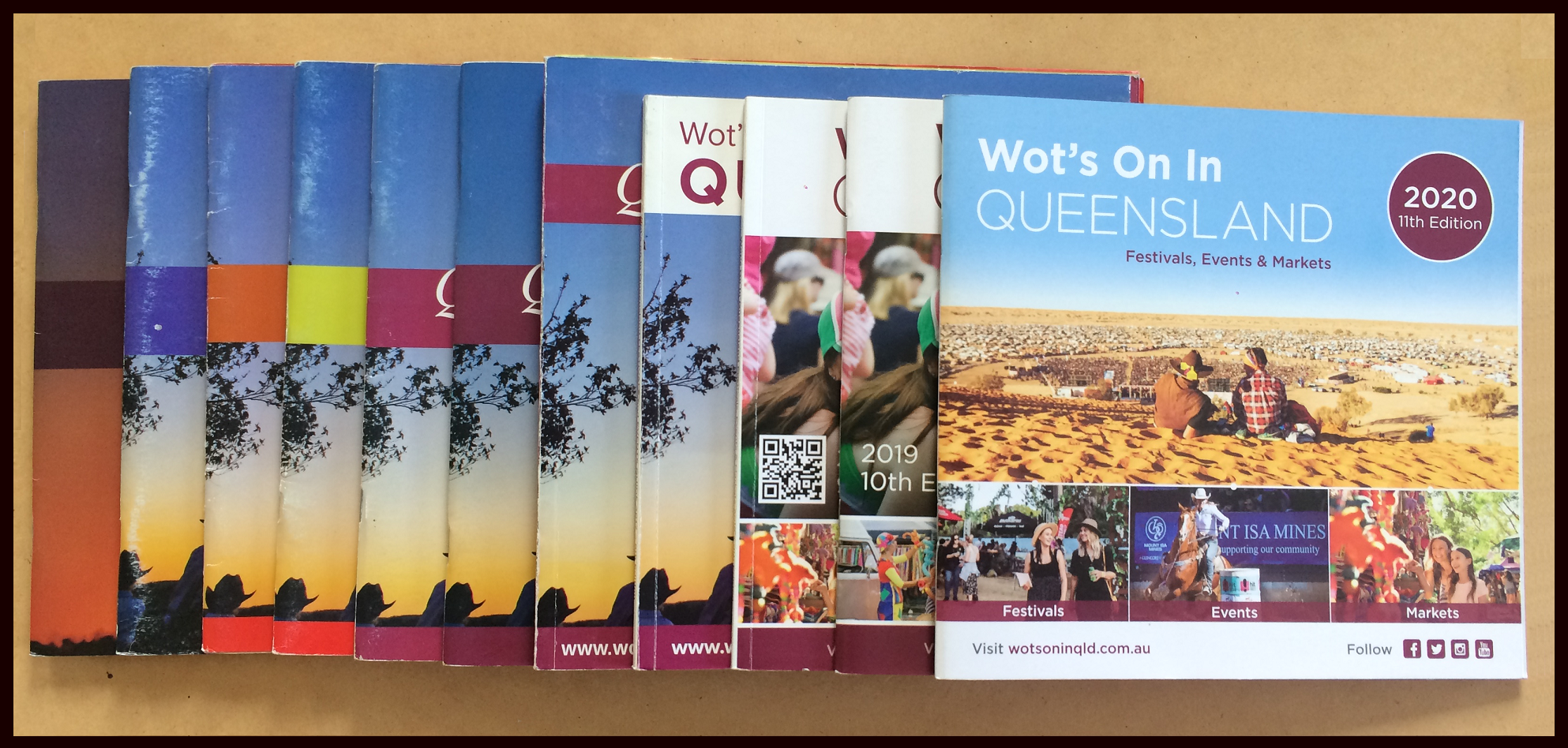 Wot's On In Queensland Festival and Events Guides books since 2009